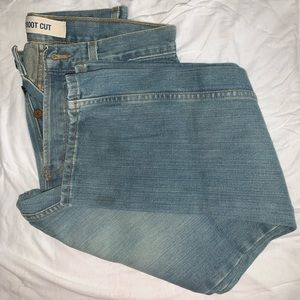 Button Fly Boot Cut Jeans